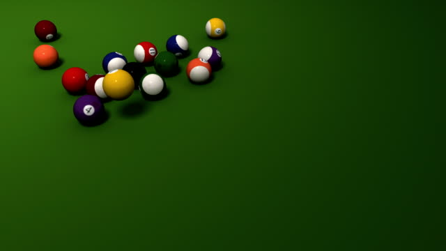 Pool billiard break shot