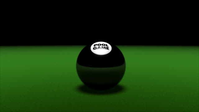 stockvideo's en b-roll-footage met pool game eight ball - getal 8
