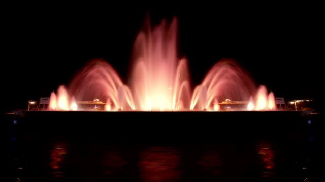 pool illuminated background (loopable) - fountain stock videos & royalty-free footage