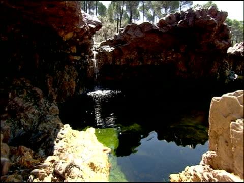 pool in rio tinto, huelva, andalusia, spain - huelva province stock videos & royalty-free footage