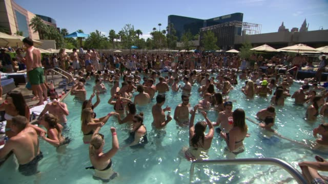 Pool Party at Ashlee Simpson Hosts FIJI Water Summer Soak Las Vegas on 9/8/2012 in Las Vegas NV