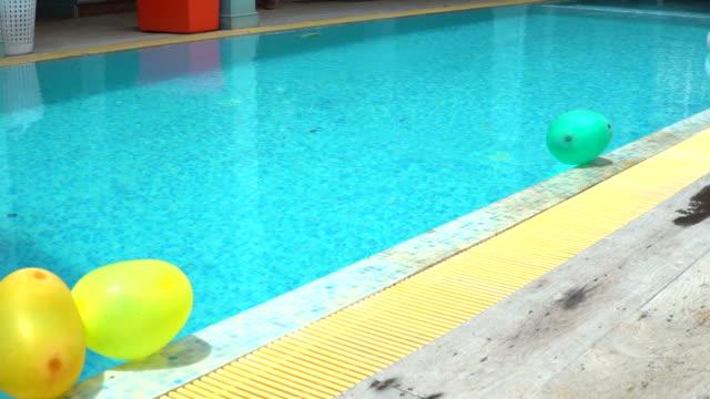 pool party: slowmotion shot - aquatic organism stock videos & royalty-free footage