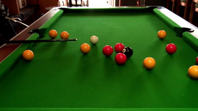 vídeos y material grabado en eventos de stock de pool player - salón de billares