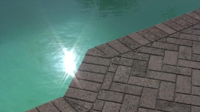 reflection pool - schwimmbeckenrand stock-videos und b-roll-filmmaterial