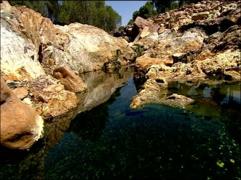pool, rio tinto, huelva, andalusia, spain - huelva province stock videos & royalty-free footage