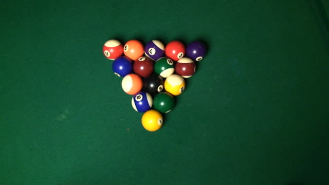 pool table w/sound - pool table stock videos & royalty-free footage