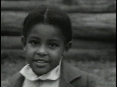1939 montage poor children near school / lowndes county, alabama, united states - boys stock videos & royalty-free footage