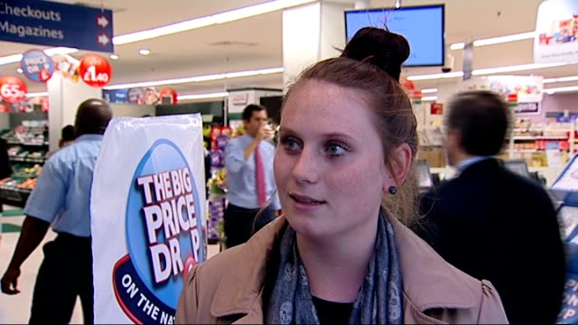 Poor growth and consumer spending figures fall in supermaket sales INT Vox pops