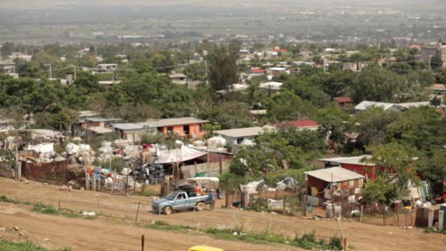poor neighborhoods near oaxaca city - slum stock videos & royalty-free footage