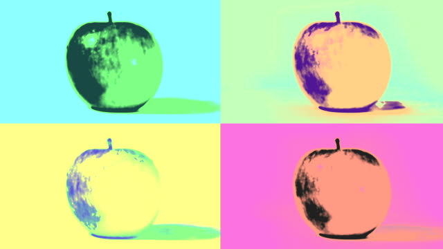 Pop Art Apples Loop. HD