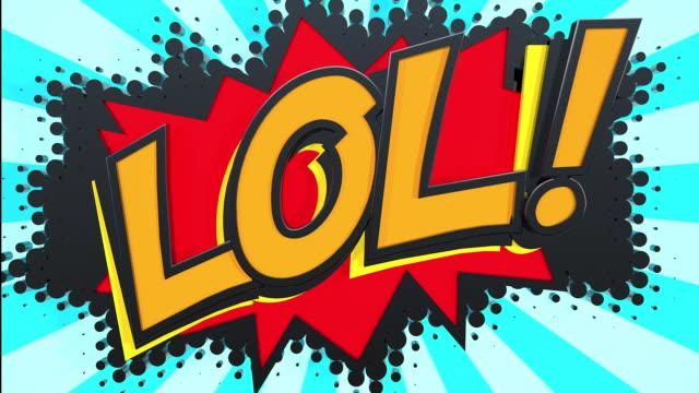 lol! pop art text - digital enhancement stock videos & royalty-free footage