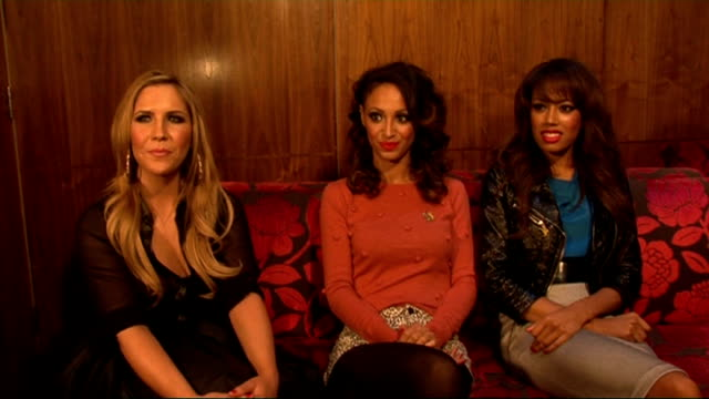 'Pop Goes the Musical' photocall and interviews Sugababes interview SOT how they got involved with 'Pop Goes the Musical' really excited about it why...
