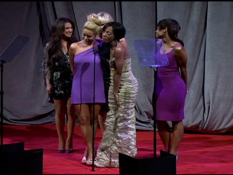 Pop group Danity Kane presents FiFi Award at the Fragrance Foundation Presents 36th Annual FiFi Awards and Celebration at the Park Avenue Armory in...