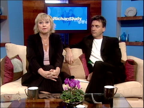 pop group tatu controversial single itn london judy finnegan interview sot it's the way their manager specifically marketed and groomed them as... - judy finnigan stock videos and b-roll footage
