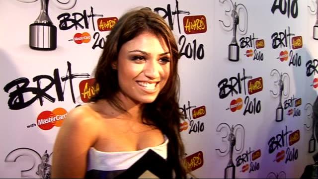2010 brit award nominations gabriella cilmi posing gabriella cilmi interview sot - sleeveless dress stock videos and b-roll footage