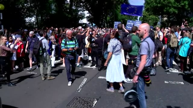 50th anniversary of abbey road photograph celebrations; england: london: camden: st john's wood: abbey road: ext various crowds around the zebra... - rolls royce stock videos & royalty-free footage