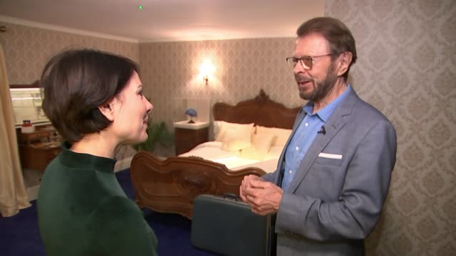 ABBA exhibition at London Southbank Centre Southbank Centre INT Bjorn Ulvaeus interview as touring exhibition with reporter SOT/