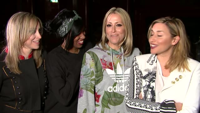 all saints interview england london camden koko nightclub int 'all saints' name in lights over stage/ all saints group interview sot - appleton video stock e b–roll