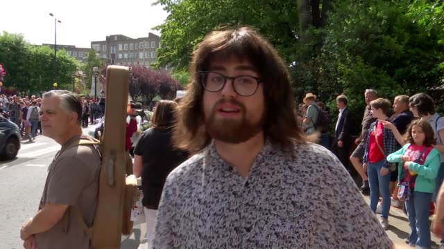 beatles fans flock to abbey road to mark 50th anniversary of album's cover photograph abbey road london john paul kane interview anthony pellico... - david minchin stock videos & royalty-free footage