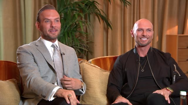bros documentary nominated for three awards at bafta television awards england london int luke goss and matt goss interview sot re documentary film... - british academy television awards stock videos & royalty-free footage