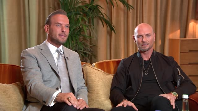 bros documentary nominated for three awards at bafta television awards england london int luke goss interview sot it's about the journey and not the... - british academy television awards stock videos & royalty-free footage