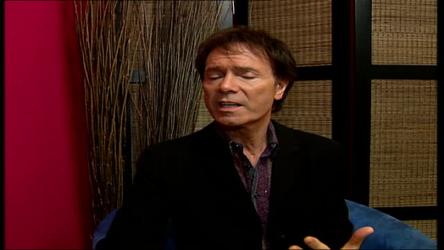 cliff richard aims for chrismas number 1; sir cliff richard interview sot - would be nice to have a number 1 hit in this decade - cliff richard stock videos & royalty-free footage