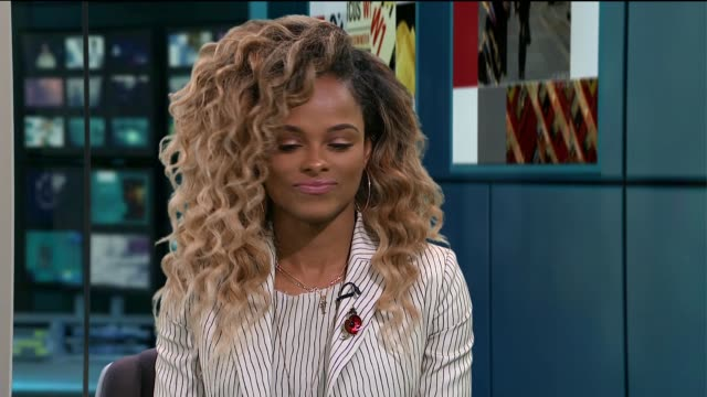 Fleur East interview ENGLAND London GIR INT Fleur East STUDIO interview SOT