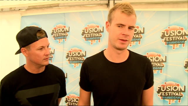 fusion festival backstage interviews int wilkinson and mc adapt set up shots / interview sot how they got to where they are travelling around the... - apt stock videos and b-roll footage