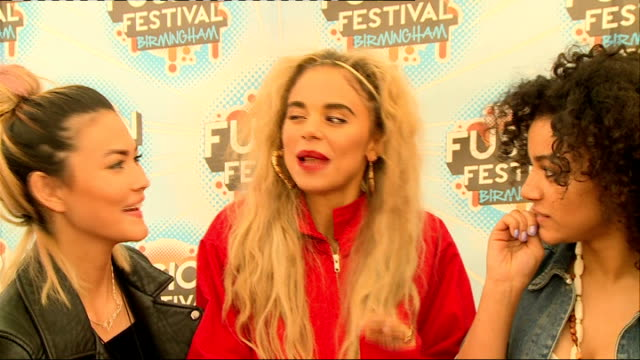 Fusion Festival backstage interviews Neon Jungle signing autographs and set up shots Neon Jungle interview SOT Birmingham accents / How the girls are...