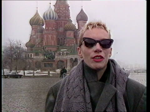 greenpeace record on sale in moscow russia moscow onionshaped domes on st basil's cathedral as bells ring sof tilt down western pop stars stand in... - music stand stock videos & royalty-free footage