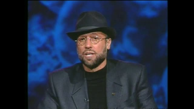 pop music group bee gees interviewed via satellite from miami by host paul holmes about being happy in their success. - the bee gees bildbanksvideor och videomaterial från bakom kulisserna