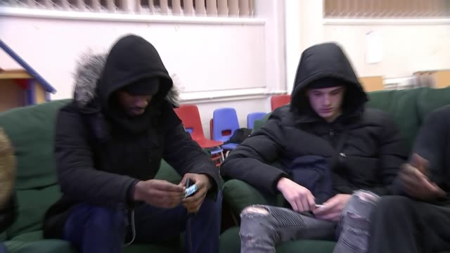 harrow youth centre determined to change negative perception of drill music; england: london: harrow: int various shots of dominick boachie... - harrow stock videos & royalty-free footage