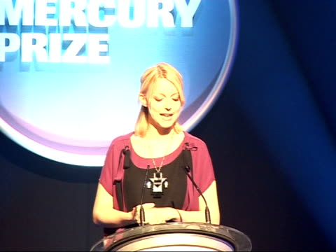 Nationwide Mercury Music Prize 2008 nominations ENGLAND London INT Lauren Laverne introducing Nationwide Mercury Music Prize 2008 nomination ceremony...