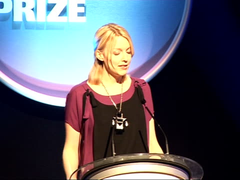 nationwide mercury music prize 2008: nominations; lauren laverne announces next four nominated artists sot - the last shadow puppets, the portico... - mercury music prize stock-videos und b-roll-filmmaterial