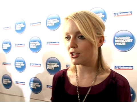 nationwide mercury music prize 2008: nominations; lauren laverne closing nomination ceremony sot lauren laverne interview sot - discusses nationwide... - mercury music prize stock-videos und b-roll-filmmaterial
