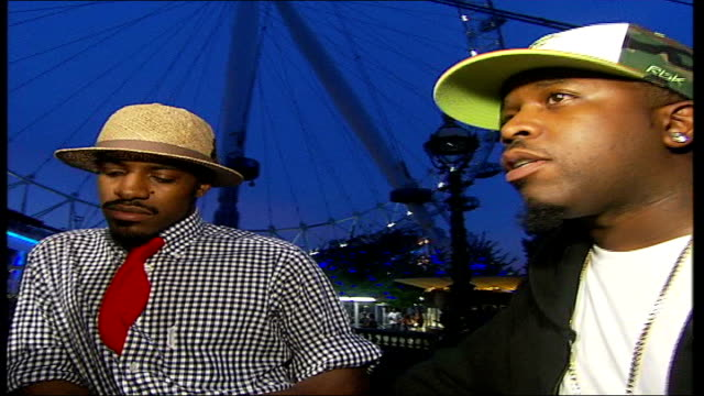 Outkast interview London Millennium Wheel Big Boi interview SOT it helps that we know each other for long time we really know what each other's...