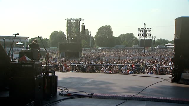 Rolling Stone Hyde Park concert Preview View from stage of audience at Hyde Park concert People in audience