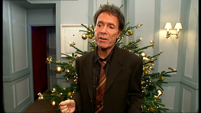 sir cliff richard interview; england: london: int sir cliff richard interview sot - talks about singing with the shadows again - cliff richard stock videos & royalty-free footage