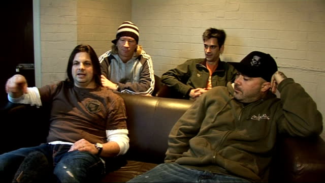 vidéos et rushes de staind rehearsal and interview england int interview with members of us rock band staind sot discuss touring with nickelback in 2008 and new single... - rock moderne