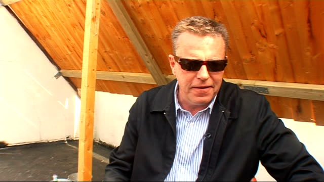 suggs interview; suggs interview continued sot - on playing the camden crawl - on st george's day and how it's not celebrated as much as other days -... - suggs musician stock videos & royalty-free footage
