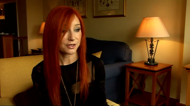 tori amos interview; tori amos interview continued sot - on barack obama - she voted for him - but he can't solve all world's problems - on the... - tori amos stock videos & royalty-free footage