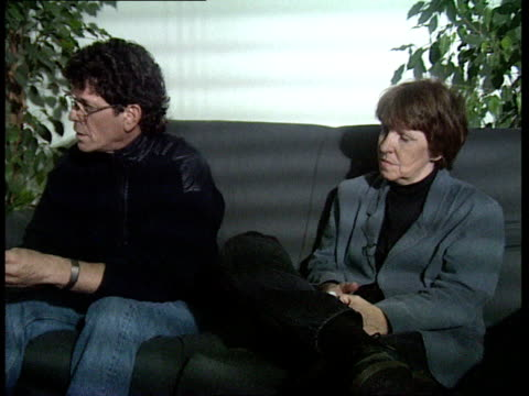velvet underground reform: lou reed interview; - mo tucker and lou reed interview continued sot - ルー リード点の映像素材/bロール
