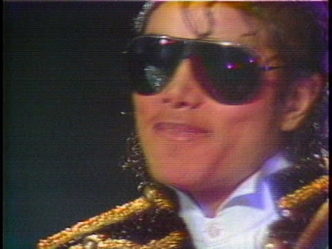 pop star michael jackson wears dark glasses on his visit to madame tussaud's wax museum. - music or celebrities or fashion or film industry or film premiere or youth culture or novelty item or vacations stock videos & royalty-free footage