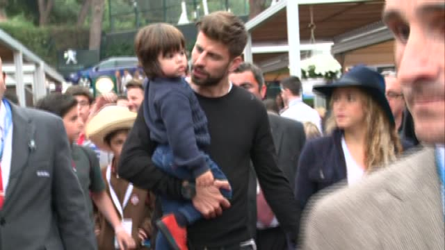 pop star shakira and husband gerard pique of fc barcelona attend the final during day seven of the barcelona open banc sabadell at the real club de... - shakira stock videos & royalty-free footage