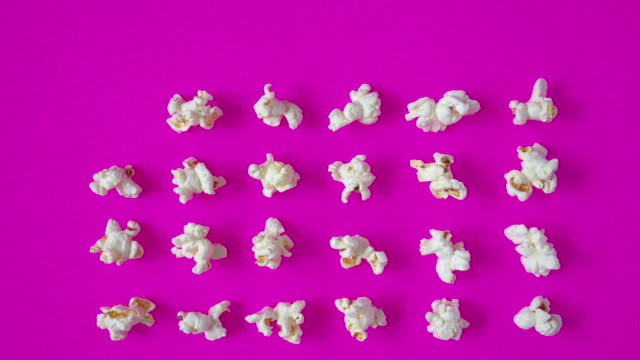 popcorn time-lapse - coloured background stock videos & royalty-free footage