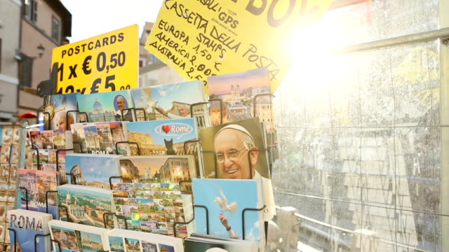 Pope and Rome postcards souvenirs