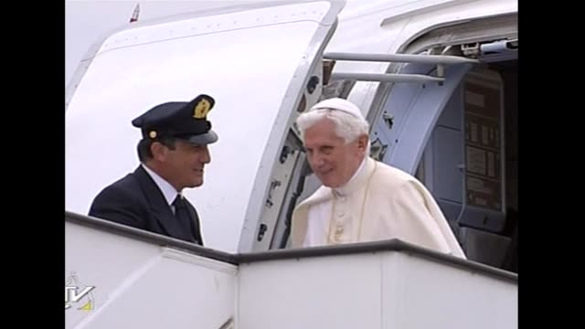 Pope Benedict XVI called Thursday for the economy to work for people not profit as he landed in crisistorn Spain where protesters decried the cost of...
