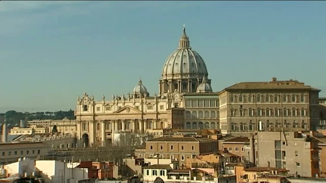 preview of Pope's last Ash Wednesday mass ITALY Rome EXT GVs The Vatican and St Peter's Basilica