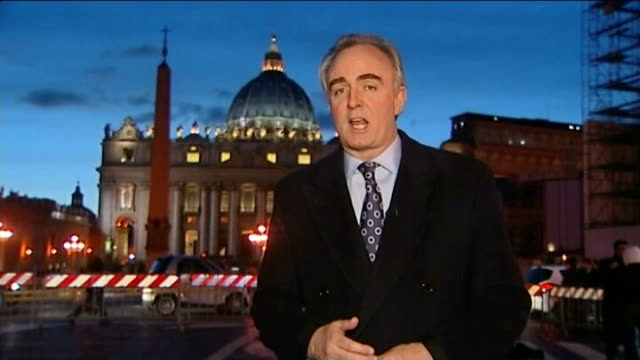 preview of Pope's last Ash Wednesday mass DUSK Reporter to camera