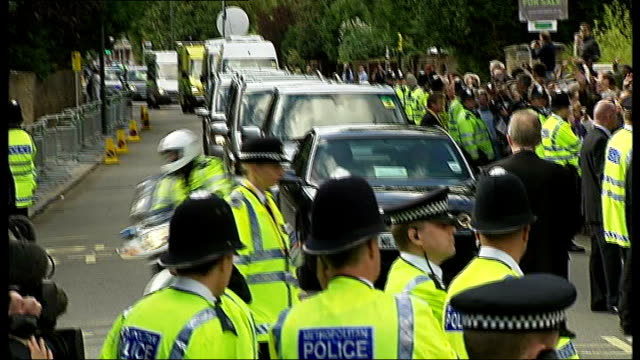 day two pope's car in convoy along route with heavy police presence - pope stock videos and b-roll footage
